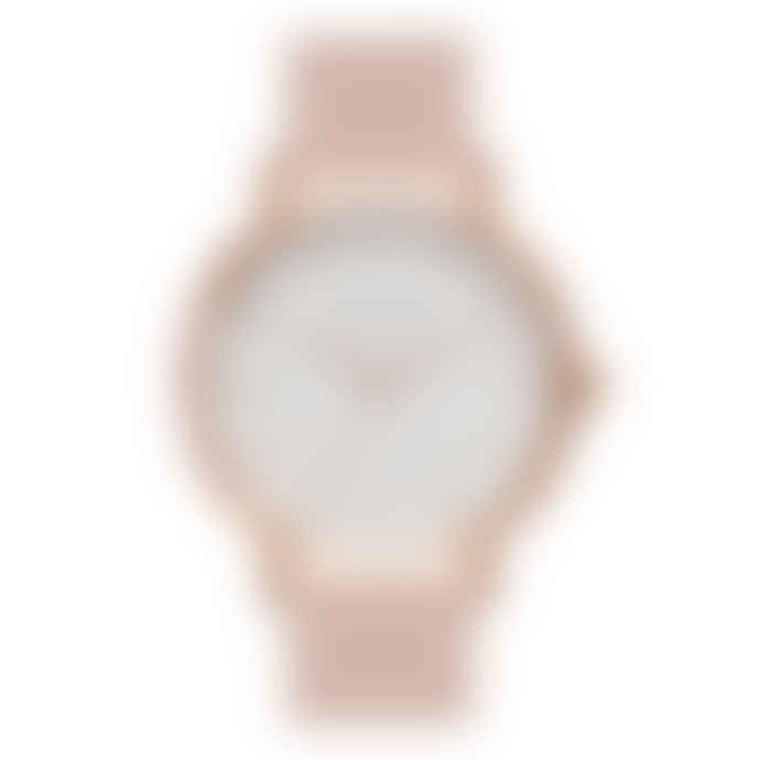 The Horse Polished Rose Gold & Blush Leather Watch