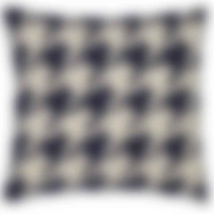 Houndstooth Navy Cushion
