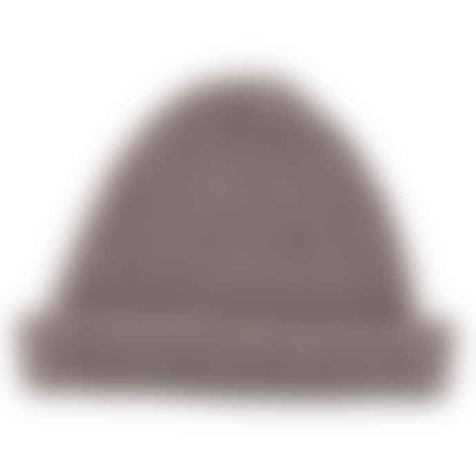 Lowie Soft Grey Mohair Ribbed Fisherman's Beanie