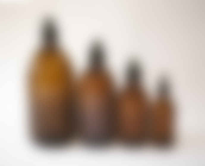 T&SHOP Pair of 250ml  Amber Glass Apothecary Bottles