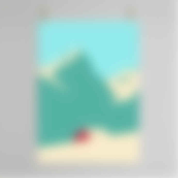 Hey Cabin Print - 50 x 70 cm