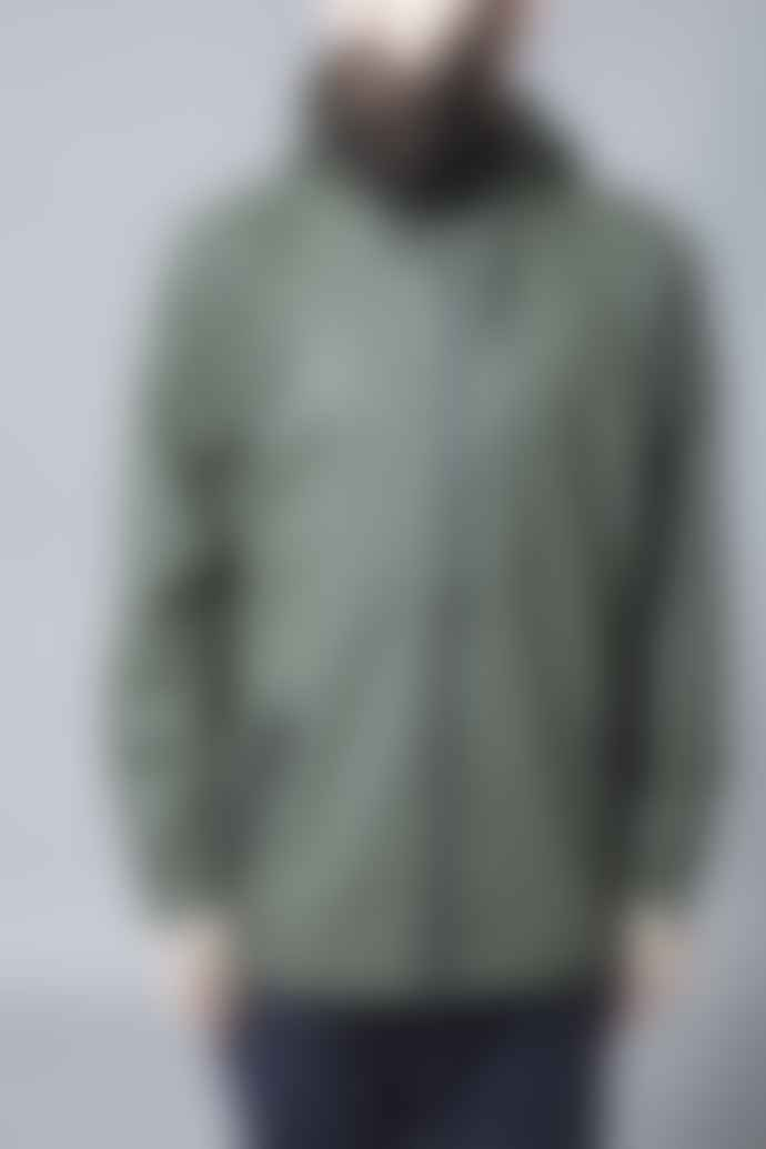 Rains Green Zip Hooded Mac