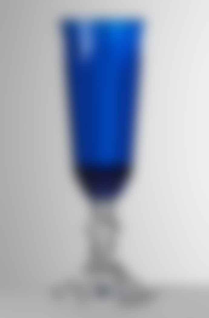 Mario Luca Giusti  Blue Dolce Vita Champagne Glass