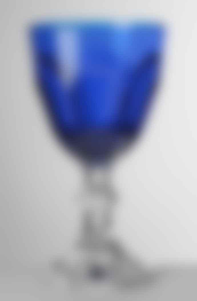 Mario Luca Giusti  Blue Dolce Vita Water Glass