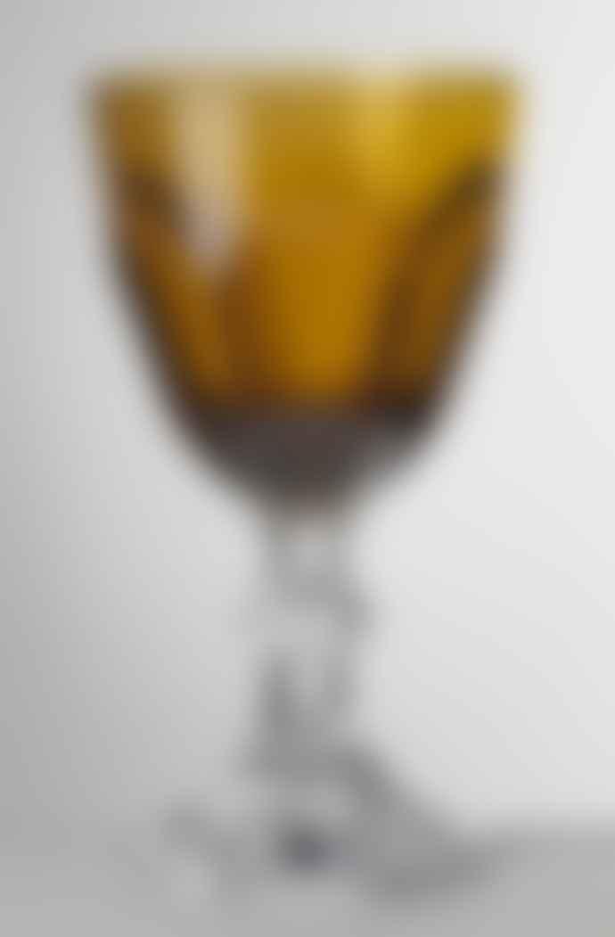 Mario Luca Giusti  Amber Dolce Vita Water Glass