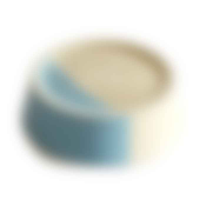 Large Blue Dip Dye Ceramic Dog Bowl