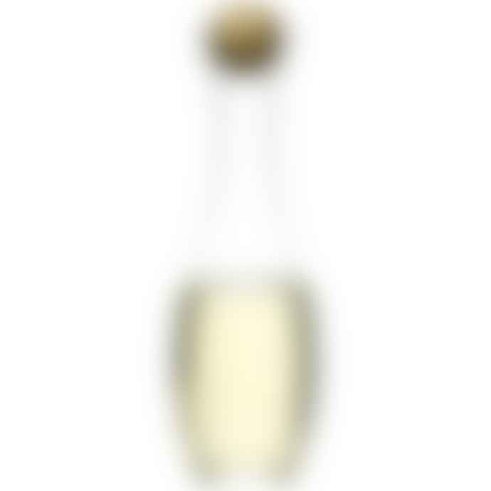 Sagaform Oval Oak Wine Carafe White with Oak Stopper