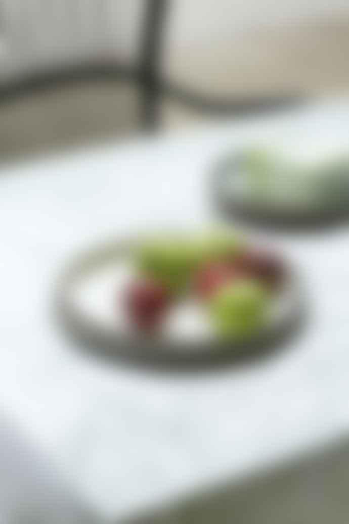 Rikki Tikki  Ceramic Large Serving Dish -White
