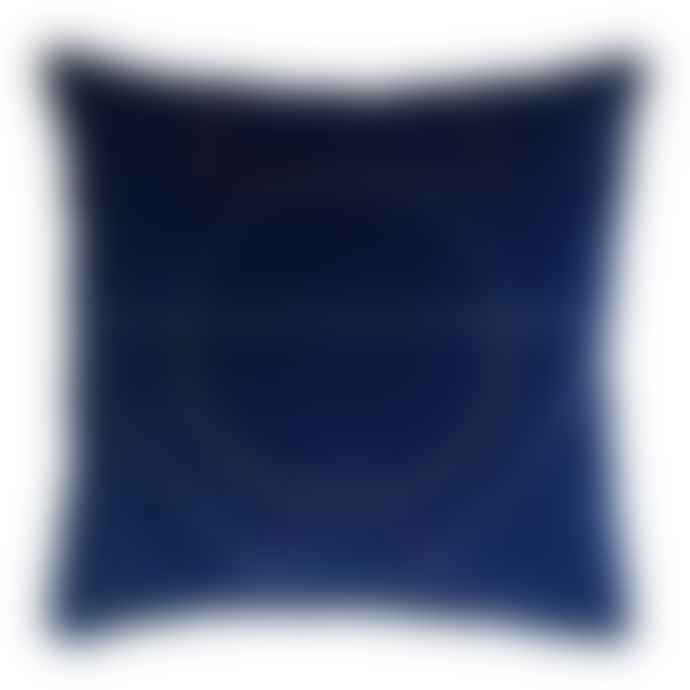 Fun Makes Good Outlines Cushion In Navy