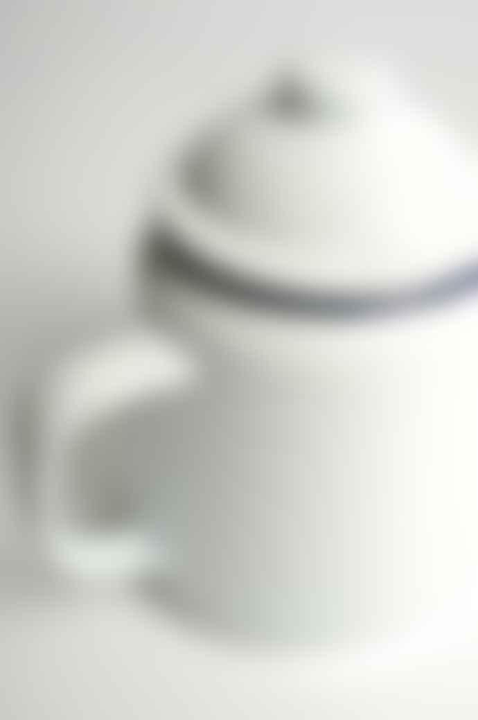 Falcon Enamelware White Teapot