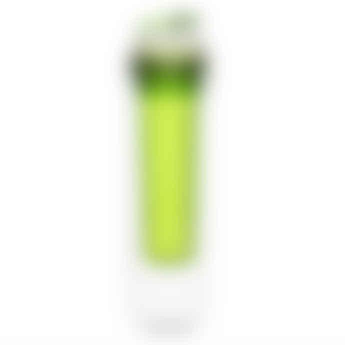 Water Bottle With Fruit Piston - Green