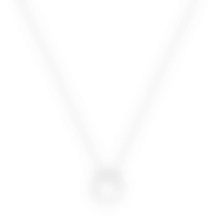 A Weathered Necklace Silver Circle Necklace - Short