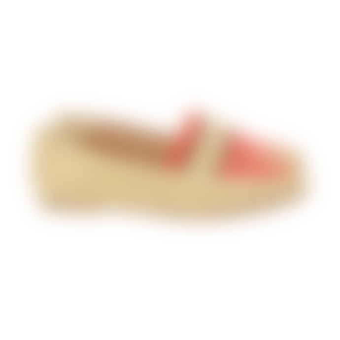 Taschka Flo Coral and Gold Loafers