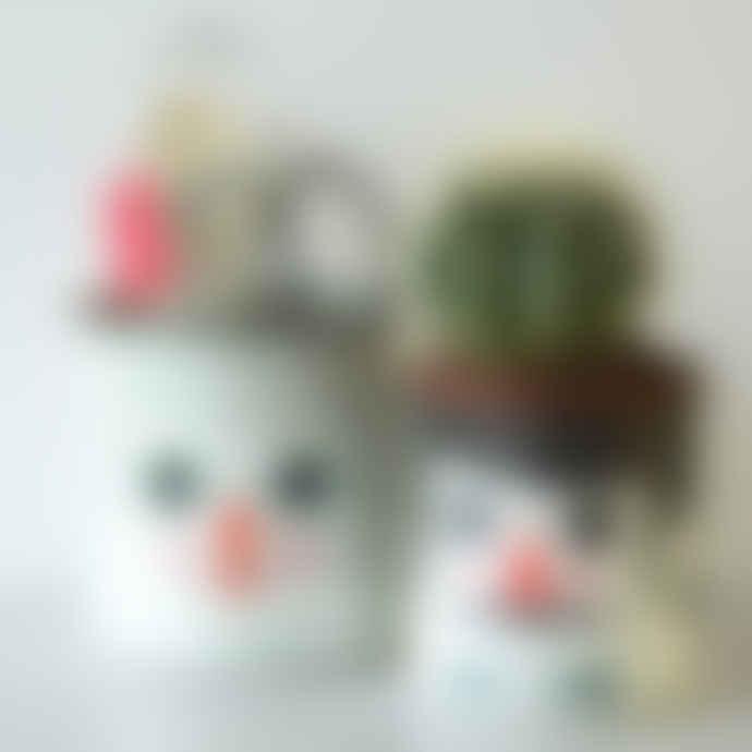 Omm Design Set Of Two Retro Styled Enamel Storage Pots