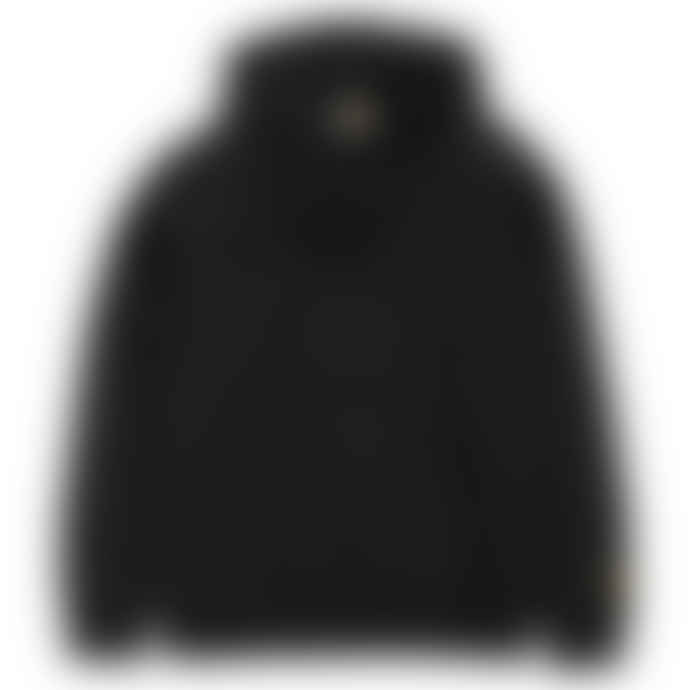 Carhartt WIP Black Heavy Cotton Raglan Sleeve Hooded Chase Sweater