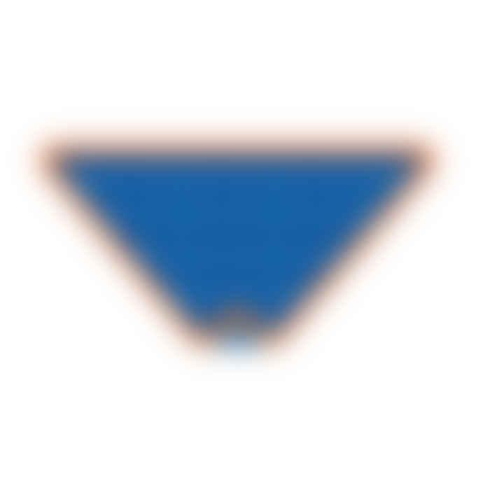 Toby Tiger Organic Cotton Blue Triangle Dribble Bib
