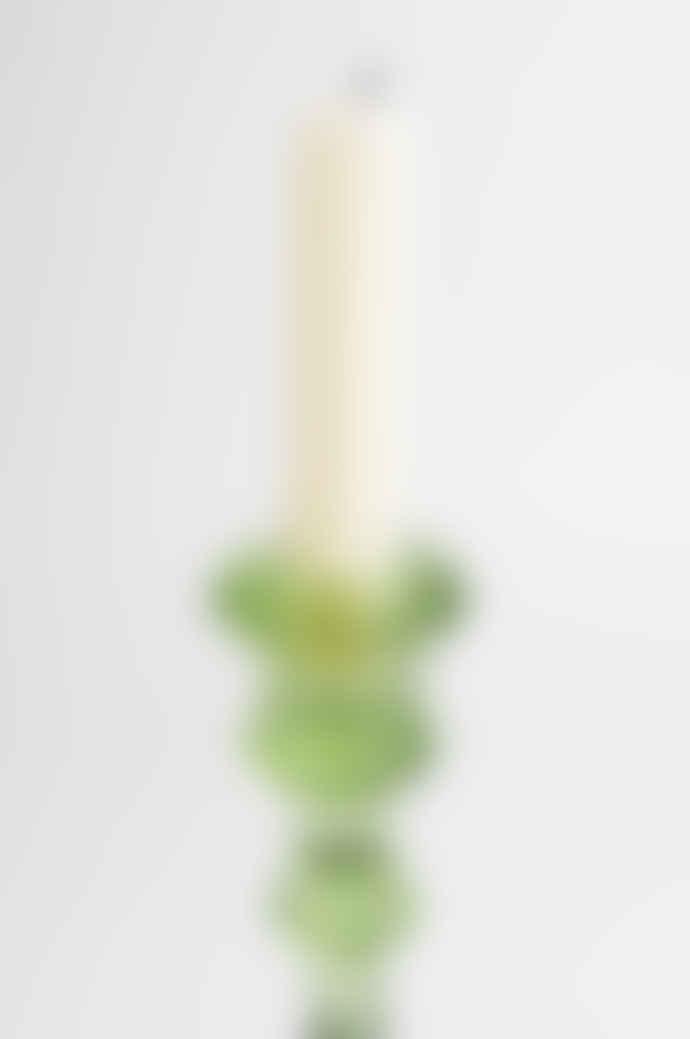 Van Verre Antique Green Candlestick