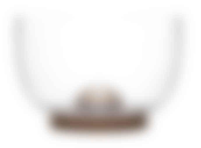 Sagaform Oval Oak & Glass Bowl