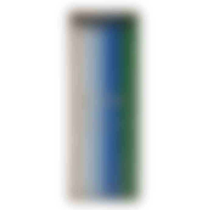 Meri Meri Silver Glitter Blue & Green Cake Candles