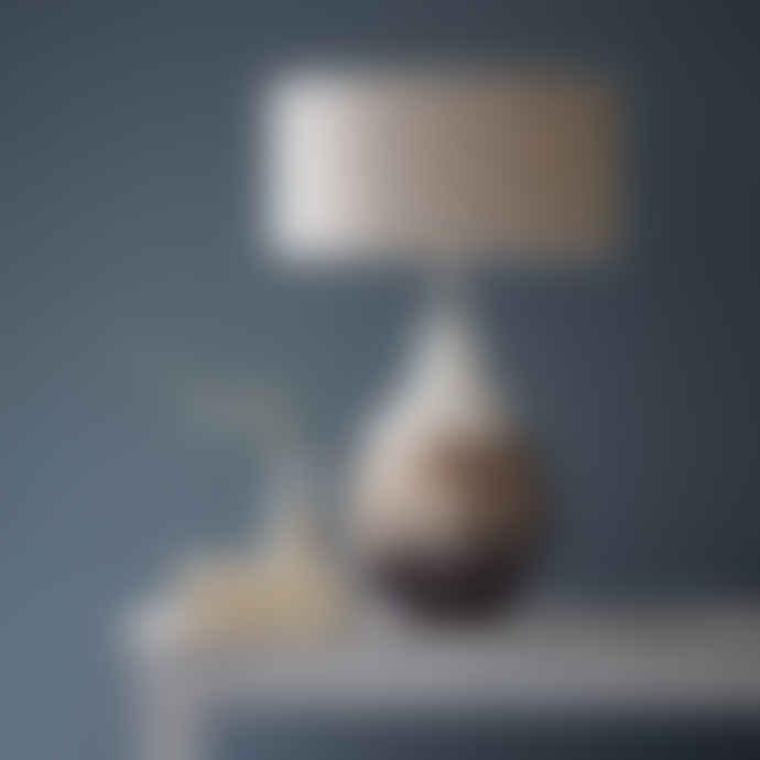Ombre Mercurised Glass Lamp