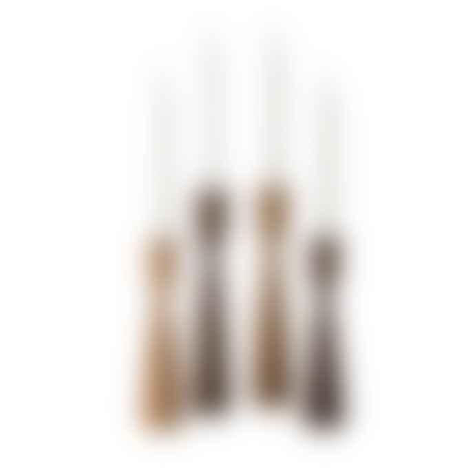 Set Of 4 Wooden Candlesticks