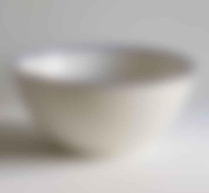 Porcelain Cobalt Blue Rim Serving Bowls Set Of 3