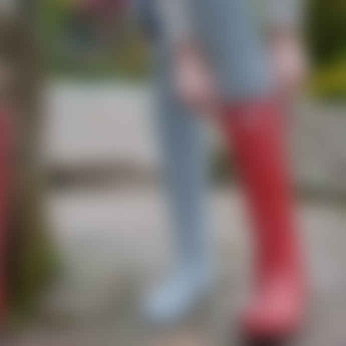 Samantha Holmes Alpaca Knee Length Ribbed Socks in Grey