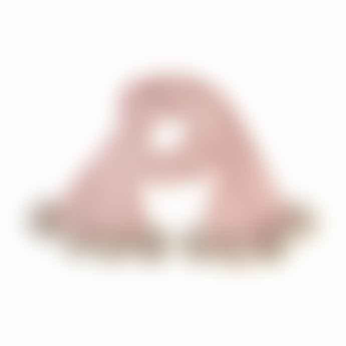 Samantha Holmes Baby Alpaca Pom Pom Scarf in Pale Pink