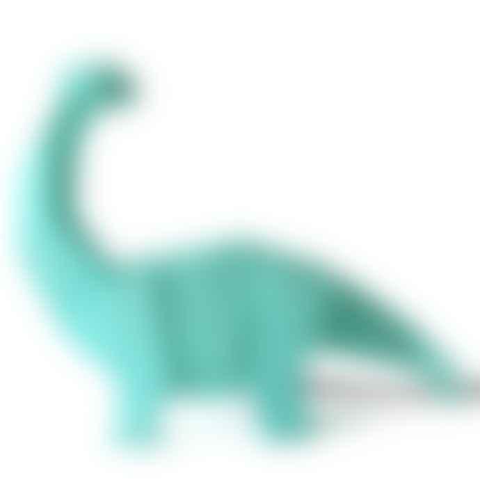 Disaster Designs Turquoise Origami Brachiosaurus Dinosaur Lamp