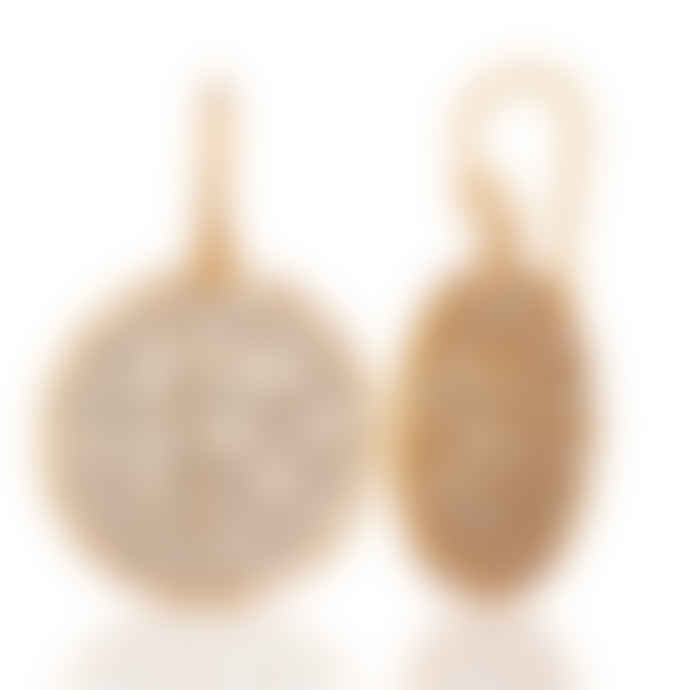Carousel Jewels  Gold Crystal Slice Earrings