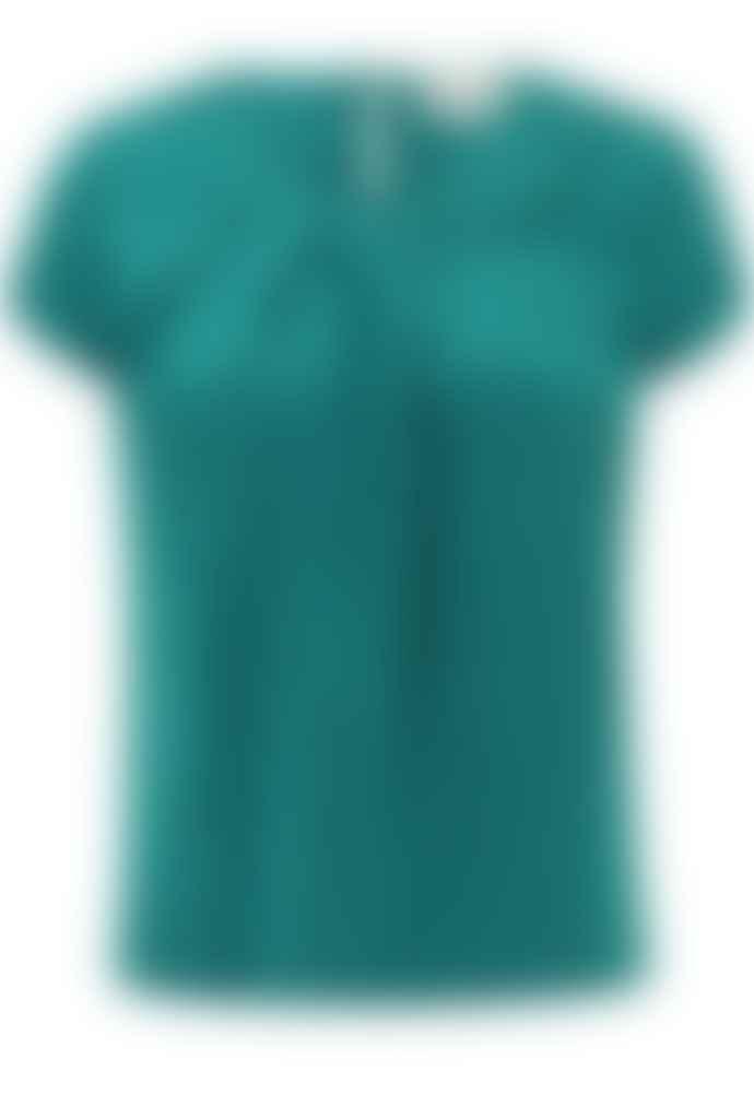Matilda & Quinn Renoir Emerald Green Silk Blouse