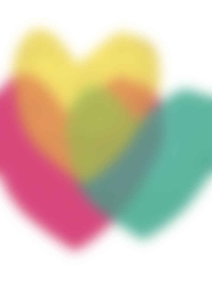East End Prints  Bright Hearts Abstract A3 Unframed Print
