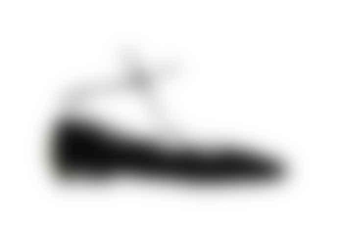 La Paire Grace Black Lace Up Flats Shoes
