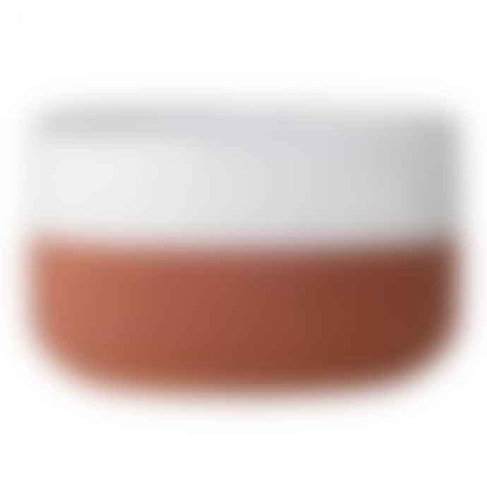 Bloomingville Terracotta and White Evelyse Small Bowl