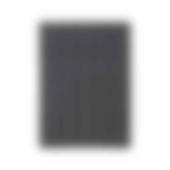 House Doctor Black and Light Grey Herringbone Rug