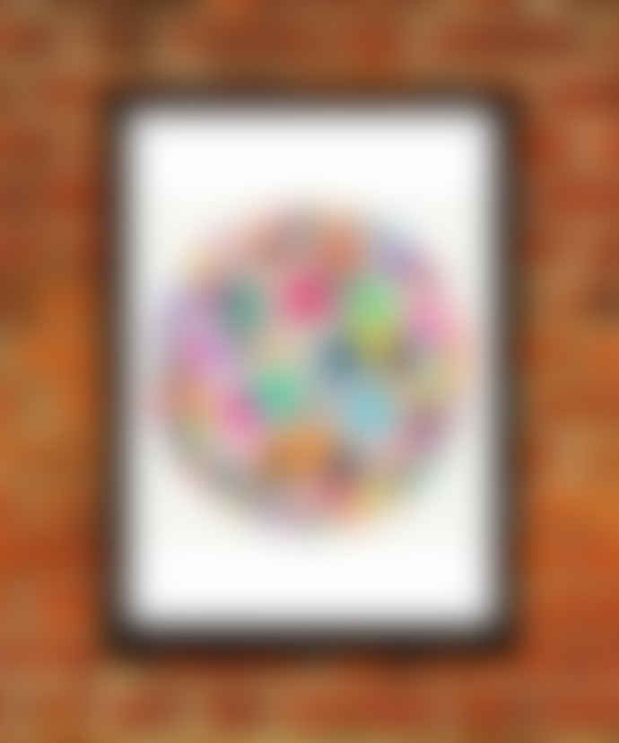 East End Prints  Geodesic Abstract A3 Framed Print