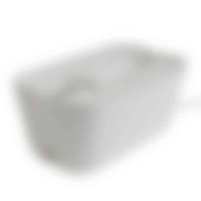 Bosign Hideaway Cable Tidy Organisor White & White in Medium Size