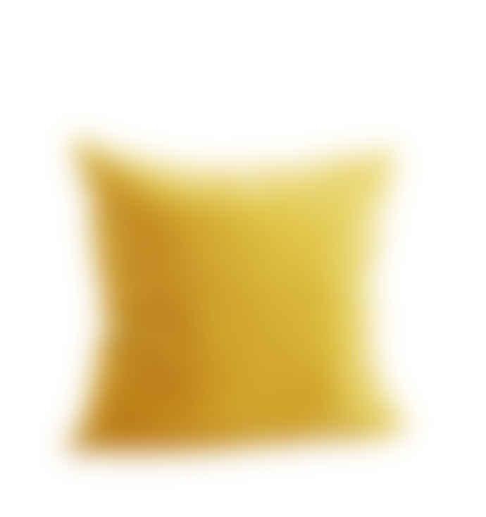 Madam Stoltz Yellow Velvet Cushion