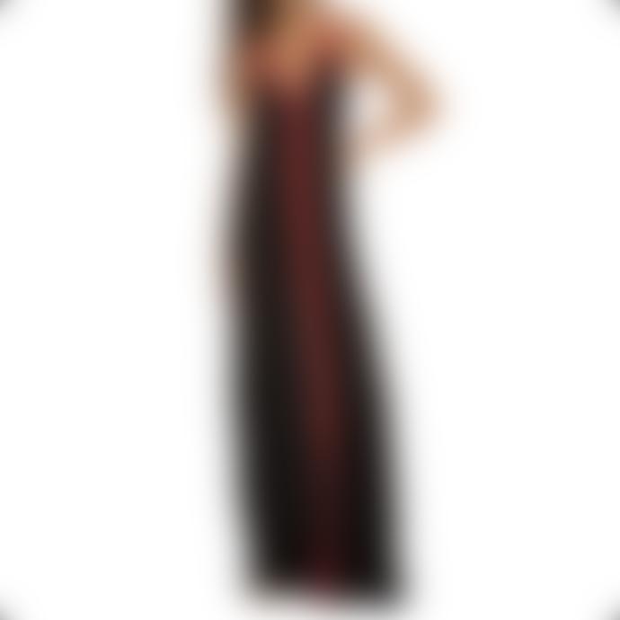 Pitusa Black With Red Braid Inca Sundress