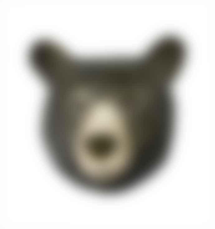 Quail Ceramics Black Bear Wall Vase