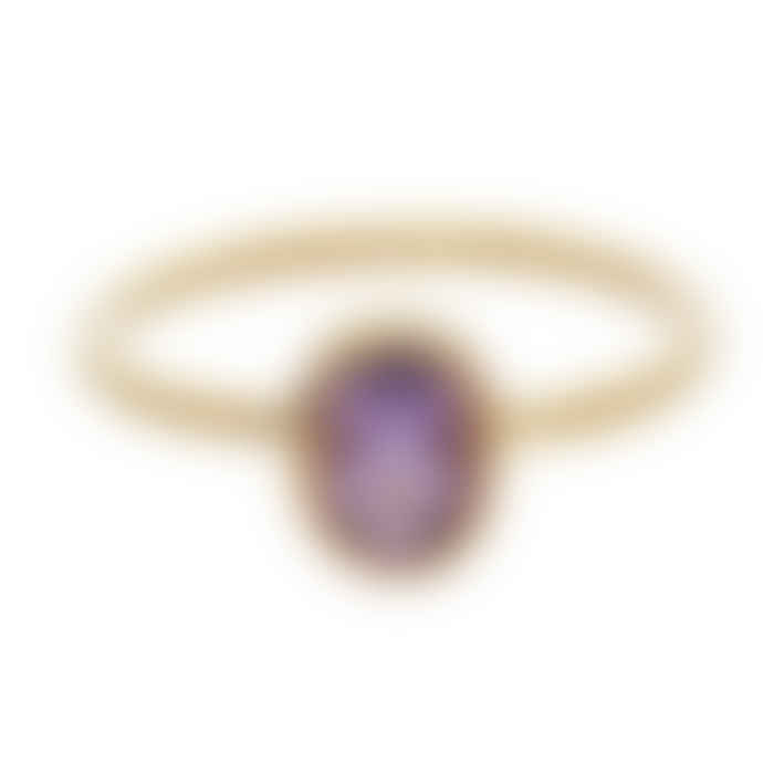 Carousel Jewels  Amethyst Oval Stacking Ring
