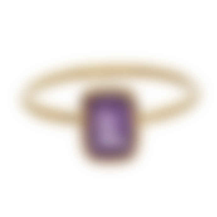 Carousel Jewels  Amethyst Rectangle Stacking Ring
