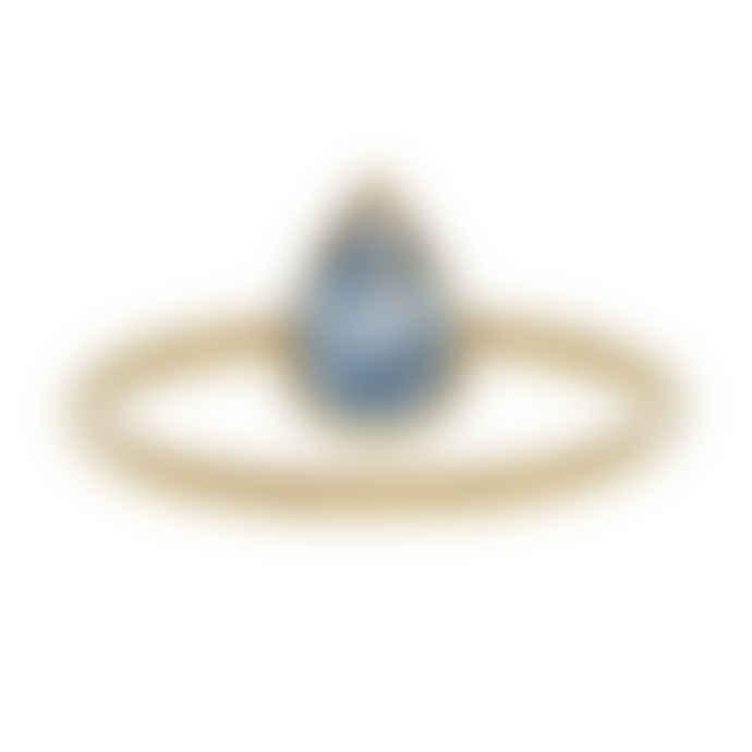 Carousel Jewels  Blue Topaz Teardrop Stacking Ring