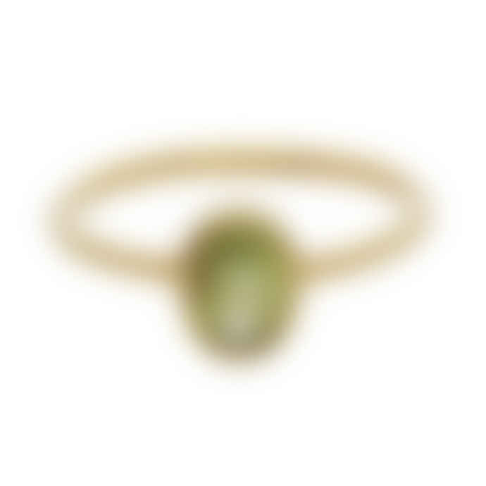 Carousel Jewels  Peridot Oval Stacking Ring