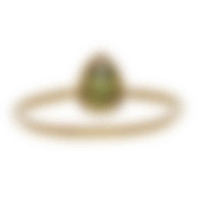 Carousel Jewels  Peridot Teardrop Stacking Ring