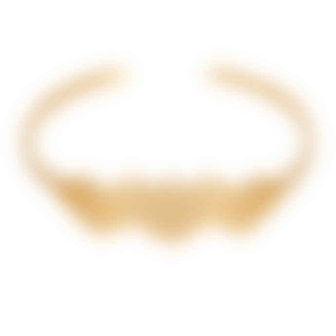 Carousel Jewels  Gold Minimal Honeycomb Bangle
