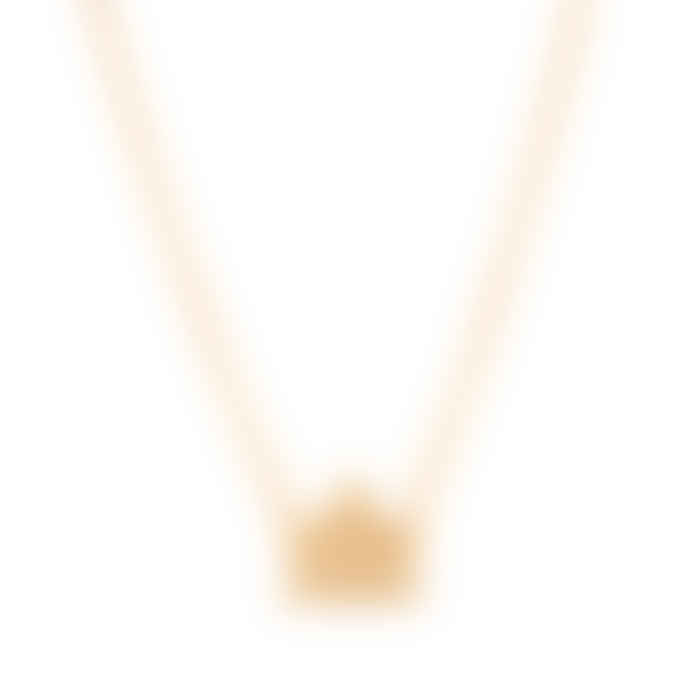 Carousel Jewels  Gold Minimal Geometric Triangle Necklace
