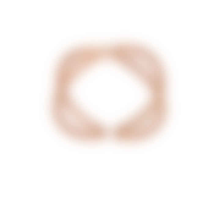 Carousel Jewels  Rose Gold Minimal Double Loop Ring