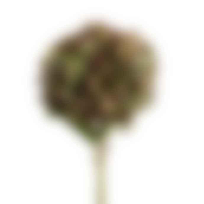 Wyld Home Large Green Mauve Hydrangea