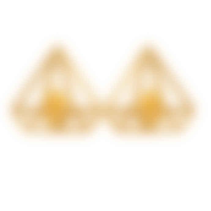 Carousel Jewels  Gold Minimal Pyramid Earrings